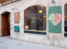 Vegetarisch restaurant Bon Lloc Royalty-vrije Stock Afbeeldingen