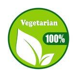 Vegetarisch symbool vectorontwerp Royalty-vrije Stock Foto