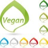 Vegetarisch symbool, veganist en voedselembleem Stock Foto