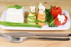 Vegetarisch voedsel Royalty-vrije Stock Foto