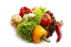 Vegetarisch voedsel. stock afbeelding