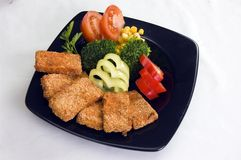 Vegetarisch voedsel. Royalty-vrije Stock Afbeelding