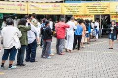 Vegetarisch voedselfestival Stock Foto