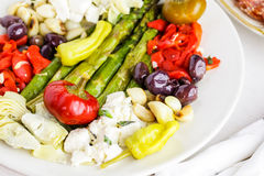 Vegetarische antipasto stock foto's