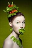 Vegetarische Art und Weise Stockbild