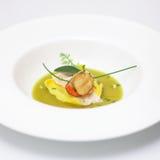 De soep van de asperge met kruiden Stock Foto's