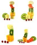 Vegetarische Aufbauten getrennt stockfotografie