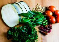 Vegetarische Bestandteile für das Kochen Lizenzfreie Stockbilder