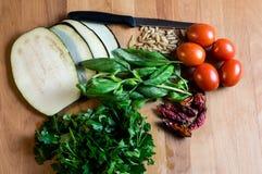 Vegetarische Bestandteile für das Kochen Lizenzfreies Stockfoto