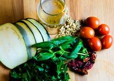 Vegetarische Bestandteile für das Kochen Stockbild