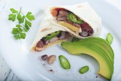 Vegetarische burrito royalty-vrije stock foto's