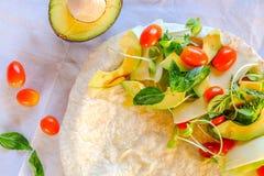 Vegetarische burritos stock foto's