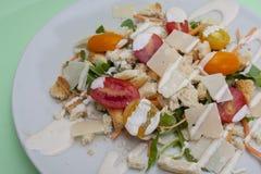 Vegetarische Caesar-salade Royalty-vrije Stock Foto's