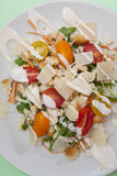 Vegetarische Caesar-salade Stock Foto