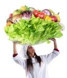 Vegetarische chef-kok royalty-vrije stock afbeelding