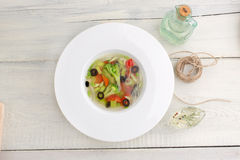 Vegetarische Gemüse Suppe Lizenzfreies Stockbild