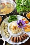 Vegetarische gezondheids hete pot Stock Afbeeldingen