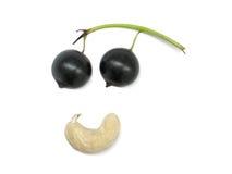 Vegetarische glimlach Stock Afbeelding