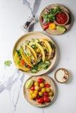 Vegetarische graantaco's Stock Foto's