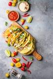 Vegetarische graantaco's Royalty-vrije Stock Foto