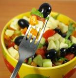 Vegetarische Griekse salade Stock Afbeelding