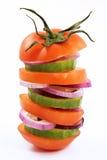Vegetarische hamburger Stock Afbeeldingen