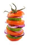 Vegetarische hamburger Royalty-vrije Stock Afbeelding