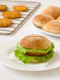 Vegetarische hamburger Royalty-vrije Stock Afbeeldingen