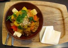 Vegetarische Kerrie Stock Foto's