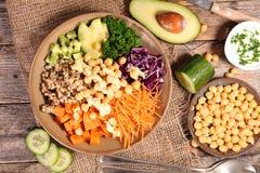 Vegetarische komsalade Stock Fotografie