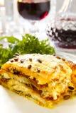 Vegetarische Lasagna royalty-vrije stock afbeelding