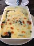 Vegetarische lasagna's Stock Foto