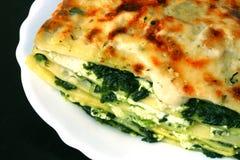 Vegetarische lasagna's Stock Afbeeldingen