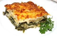 Vegetarische Lasagne mit Lizenzfreie Stockbilder