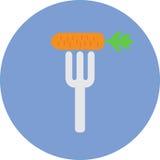 Vegetarische Lebensmittelikone Lizenzfreies Stockfoto