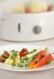 Vegetarische low-calorie lunch stock foto