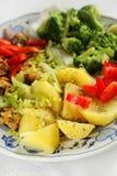 Vegetarische lunch Stock Afbeelding