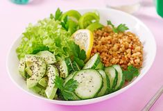 Vegetarische lunch Het gezonde Eten Juiste voeding royalty-vrije stock afbeelding