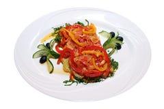 Vegetarische maaltijd Royalty-vrije Stock Foto's