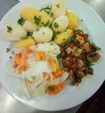 Vegetarische Mahlzeit stockfotos