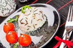 Vegetarische Mahlzeit auf dem Teller in einer Gaststätte Stockbilder