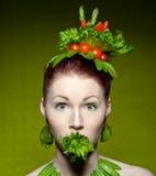 Vegetarische manier Stock Afbeelding