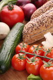 Vegetarische Nahrung Lizenzfreies Stockfoto