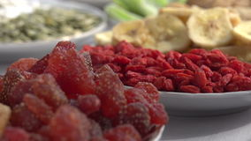 Vegetarische Nahrung stock video