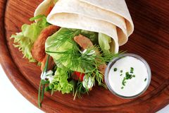 Vegetarische omslagsandwich Royalty-vrije Stock Foto