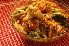 Vegetarische orientalische Nudel Stockbild