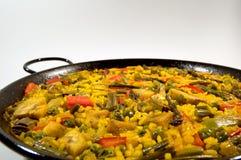 Vegetarische Paella - Spaanse rijst Royalty-vrije Stock Afbeelding