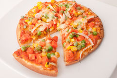 Vegetarische Pizza Lizenzfreie Stockbilder
