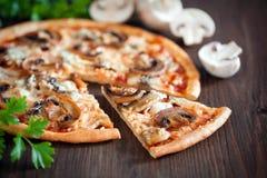 Vegetarische pizza Stock Afbeelding