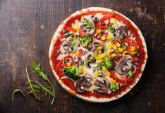 Vegetarische pizza Royalty-vrije Stock Fotografie